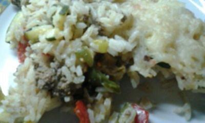Hack-Reis-Auflauf - Rezept