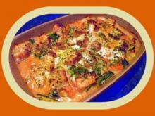 Lachs- Gemüse- Gratin - Rezept