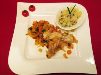 Kabeljau auf Fenchelgemüse an mediterranem Kartoffelpüree - Rezept