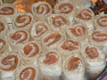 Wraps mit Lachs und Frischkäsefüllung - Rezept