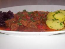 Aromatisches Zwiebel-Paprika-Gulasch - Rezept