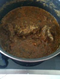 Fleisch mit Spinat - Rezept