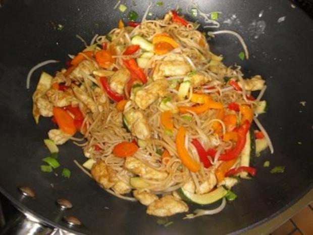 Chinesische Huhn-Nudel Pfanne - Rezept - Bild Nr. 5