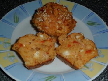 Rezept: Käse - Paprika - Muffins