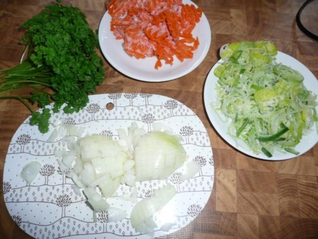 Rindfleisch-suppe,  Markklösschen, Meerrettich,Püree, - Rezept - Bild Nr. 3