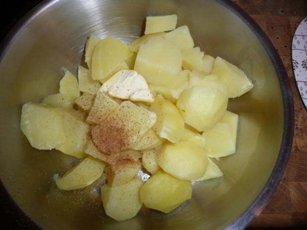 Rindfleisch-suppe,  Markklösschen, Meerrettich,Püree, - Rezept - Bild Nr. 14