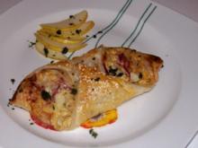 Vorspeise/Abendessen: Blätterteig-Schiffchen mit Bergkäse-Birnen-Füllung - Rezept