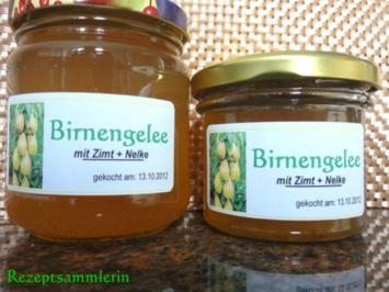 M+G:   BIRNENGELEE (auch für Diabetiker) - Rezept