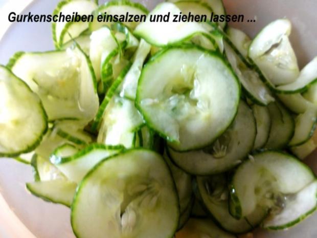 Salatbar:   GURKENSALAT mit Sahnesauce - Rezept - Bild Nr. 2