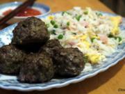 Asiatische Fleischbällchen mit Kanton-Reis - Rezept