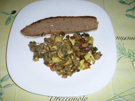Thüringer Pilz-Hackfleischpfanne - Rezept