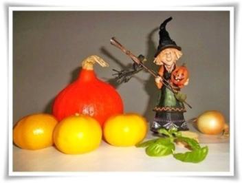 Halloween Kürbis- Mandarinen  Cremesuppe - Rezept