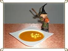 Halloween Kürbis - Mango - Anis Cremesuppe - Rezept