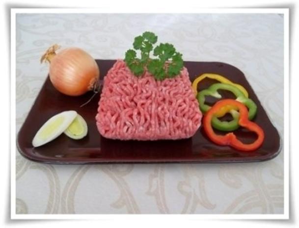 Raffinierte bunte Paprikapfanne  mit Hackfleisch und Reis dazu - Rezept - Bild Nr. 3