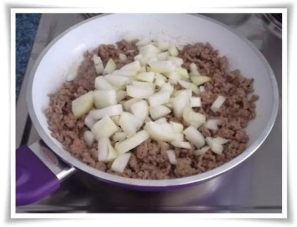 Raffinierte bunte Paprikapfanne  mit Hackfleisch und Reis dazu - Rezept - Bild Nr. 8