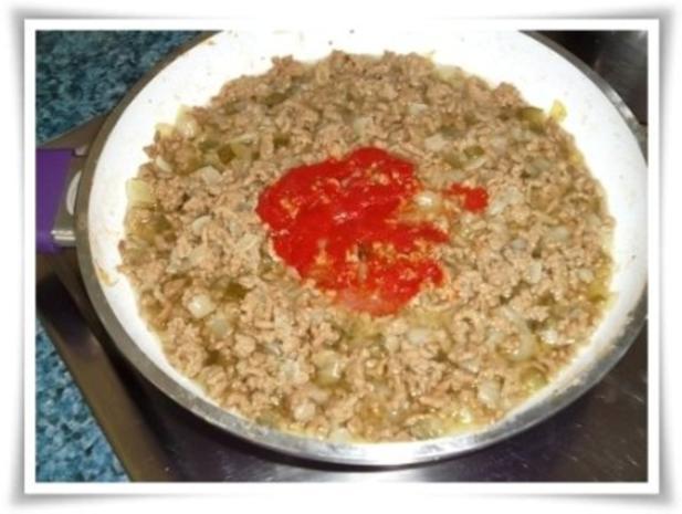 Raffinierte bunte Paprikapfanne  mit Hackfleisch und Reis dazu - Rezept - Bild Nr. 9