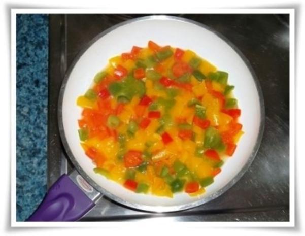 Raffinierte bunte Paprikapfanne  mit Hackfleisch und Reis dazu - Rezept - Bild Nr. 12