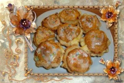 Rezept: Kuchen : Blätterteig - Pudding - Marzipan - Apfel - Küchlein