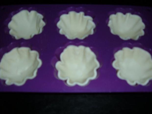 Kuchen : Blätterteig - Pudding - Marzipan - Apfel - Küchlein - Rezept - Bild Nr. 5