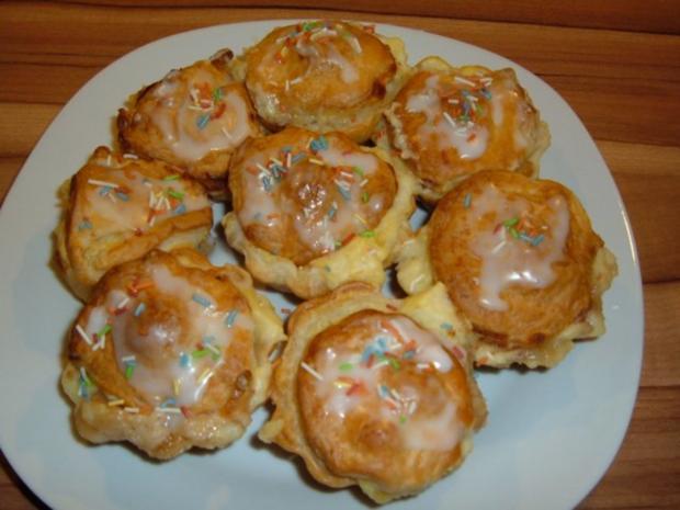 Kuchen : Blätterteig - Pudding - Marzipan - Apfel - Küchlein - Rezept - Bild Nr. 10