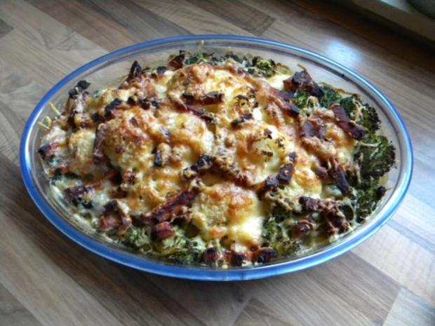 Blumenkohl-Broccoli-Kartoffel Auflauf - Rezept - Bild Nr. 3