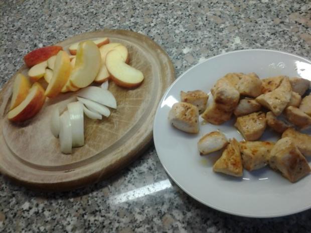 Nudeln an Apfel-Curry - Rezept - Bild Nr. 2