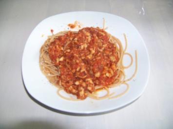 vegane Spaghetti Bolognese - Rezept