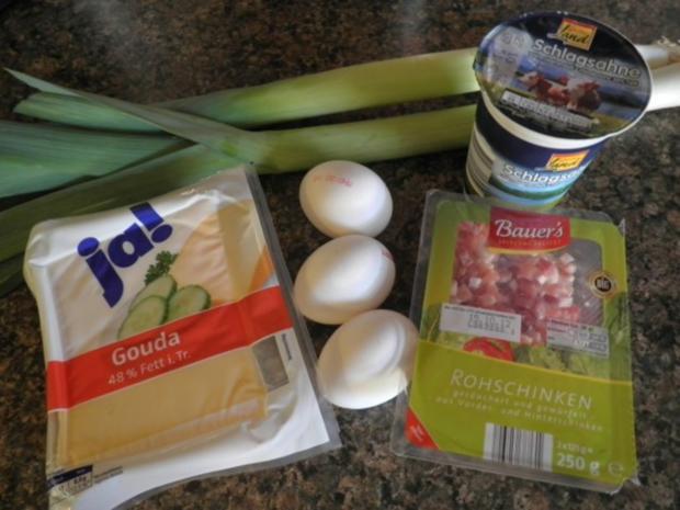 Lauchkuchen für Zwei ... - Rezept - Bild Nr. 5