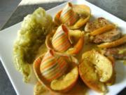 Schweinefilet in Apfelcrème mit Spitzkohl und Sombreroni's - Rezept