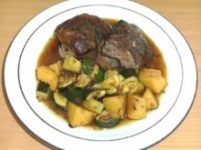 Fleisch: Lammkeule, geschmort, auf Kräuterbett - Rezept