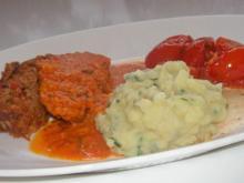 Würziger Hackbraten mit Oliven, Parmesan und getrockneten Tomaten - Rezept