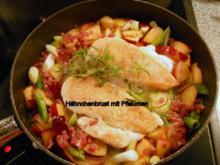 Hähnchenbrustfilet mit fruchtiger Pflaumensoße - Rezept