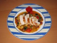Hähnchenbrustfilet auf Ratatouille - Rezept