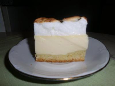 Käsekuchen mit Baiser - Rezept