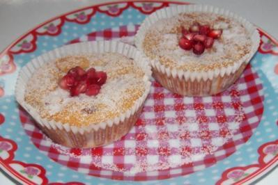 Rezept: Kleine Granatapfel-Käsekuchen