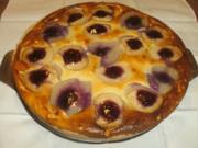 Käsekuchen mit Apfel - Birne und Preiselbeeren - Rezept