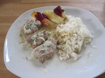 Schweinefilet mit Gorgonzola und Birnen - Rezept