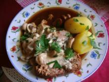 Champignon- Kräuter - Falscher Hase - Rezept