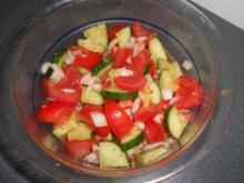 Arabischer Tomate  Gurken Salat - Rezept