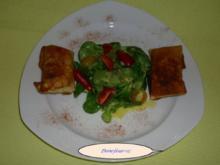 2.) Gang  Wan Tan mit  Feldsalat - Rezept