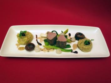 Filet vom Wildschwein mit Lauchgemüse und Kartoffel-Senfpüree - Rezept
