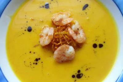 &#9829 Orangen-Kürbis-Suppe &#9829 - Rezept