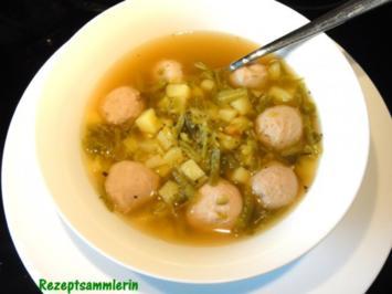 Suppe:   SCHNIBBELBOHNENSUPPE (Schnittbohnen) - Rezept