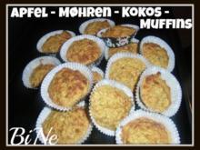 BiNe` S APFEL - MØHREN - KOKOS - MUFFINS - Rezept