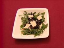 Ruccola-Salat mit Pilz-Balsamico-Preiselbeer-Farce (Teddy Ibing) - Rezept