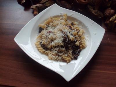 Steinpilzpfanne mit Nudeln - Rezept