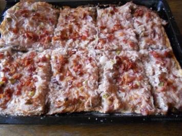 Zwiebelkuchen mal 4 - Rezept