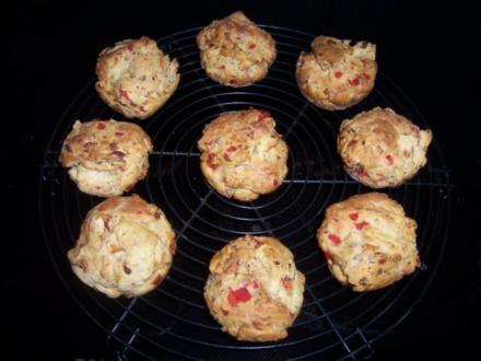 Pizza-Muffins - Rezept