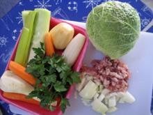 Wirsing-Eintopf mit Kasseler und Käse - Rezept