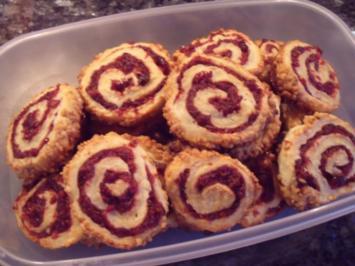 Rezept: Weihnachtsplätzchen: Cranberry-Schnecken